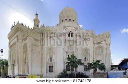 Mosque Of Abu El Abbas Masjid, Alexandria, Egypt.