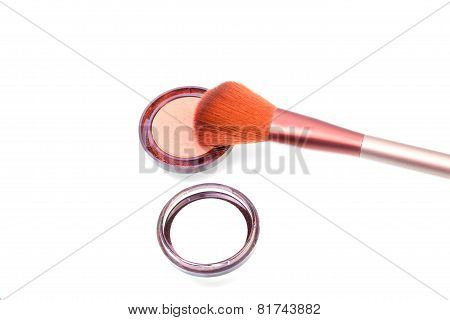 Large Brush With Blush Palette