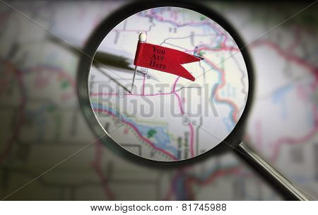 You Are Here Pin Magnified