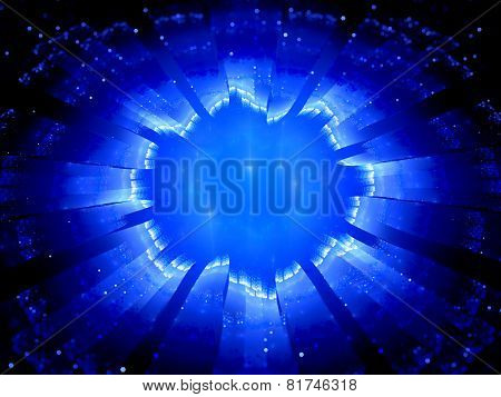 Blue Glowing Galactic Gate