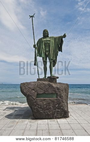 Guanches Indians Statues