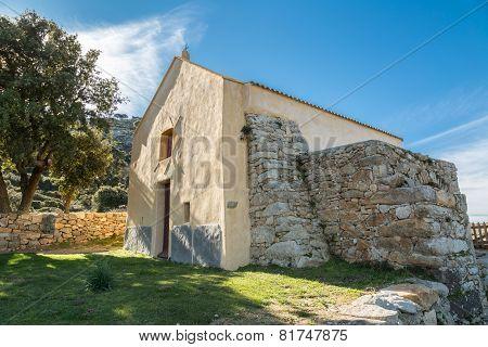 Notre Dame De La Stella Chapel Near Lumio In Corsica