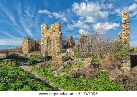 Abandoned Village Of Occi Near Lumio In Corsica