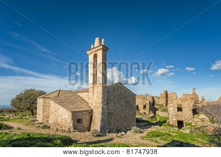 Abandoned Village Of Occi Near Lumio In Corsica