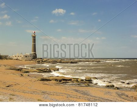 Jose Ignacio Lighthouse And The Beach
