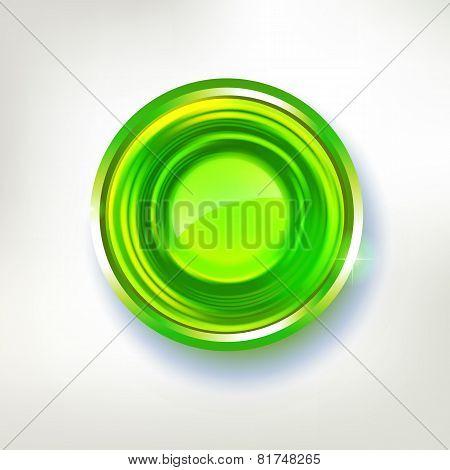 Bright Green Colors Abstract Circle Badge
