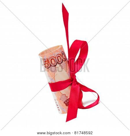 roubles with red bow