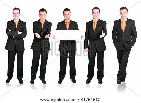 Collection Of Businessmans In Various Condition.