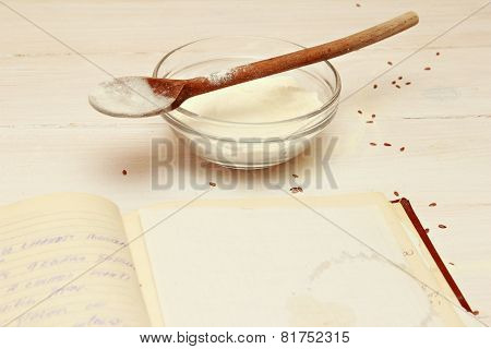Blank paper for recipes