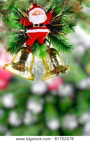 Christmas And New Year Tree. Isolated