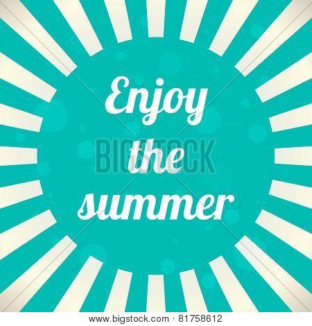 Enjoy The Summer Background, Vector Illustration, Eps10