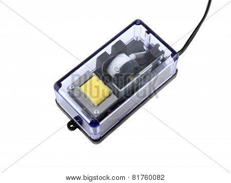 Aquarium Air Compressor (pump)on White