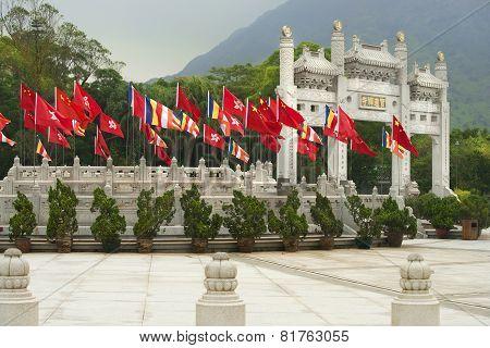Gateway In Po Lin Monastery, Lantau Island, Hong Kong