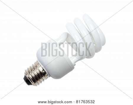 Power Saving Spiral Lamp. Isolated