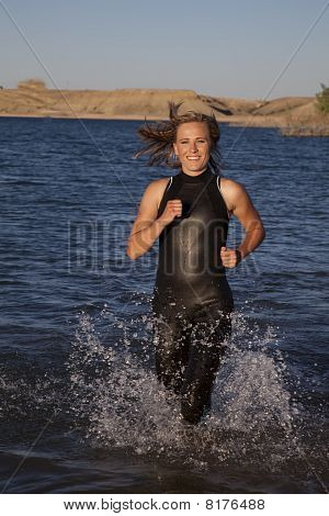 Running Woman Wet Suit