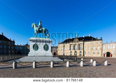 Danish Royal Castle Amalienborg