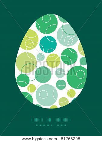 Vector abstract green circles Easter egg sillhouette frame card template