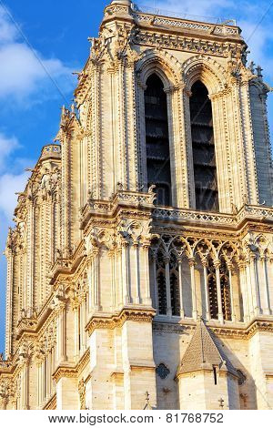 Details Of Notre Dame De Paris Cathedral.france.