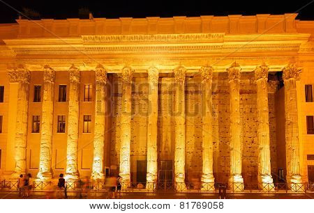 Ancient Columns In Rome