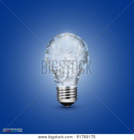 Vector light bulb with a mechanism