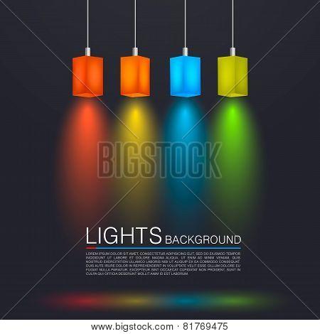 Square paper lamps