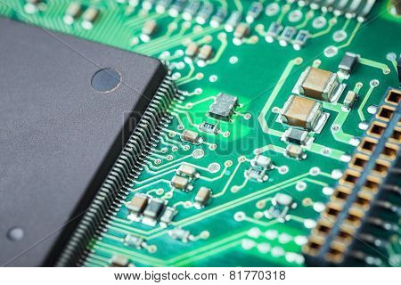 Electronic Board Closeup