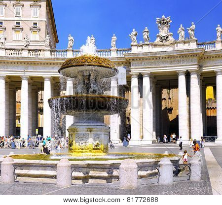 St. Peter's Square,, Vatican City.  Italy
