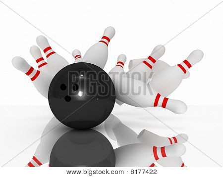 3D Bowling Strike