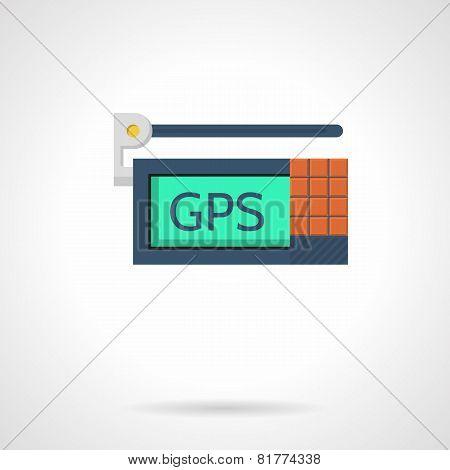GPS device flat vector icon