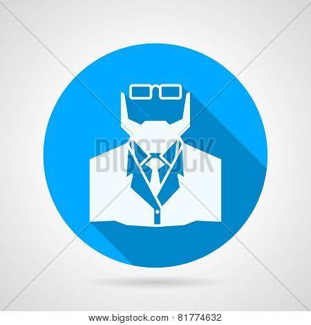 Flat vector icon for medicine. Doctor