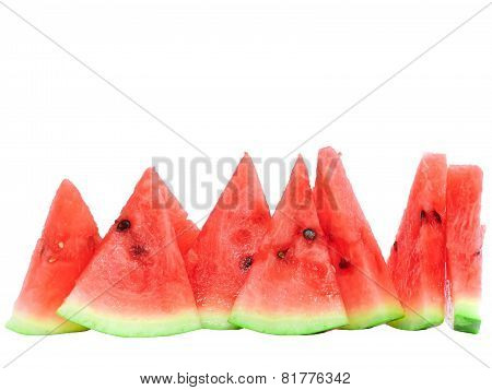 Slice Of Juicy Watermelon. Isolated