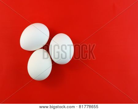 Easter Eggs On Colour Background.