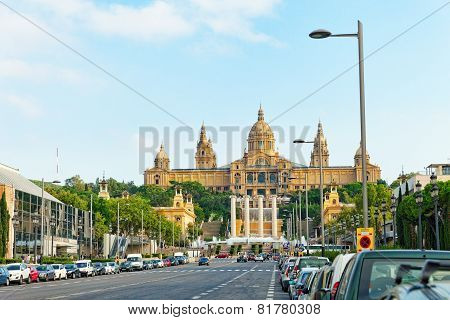 BARCELONA, SPAIN -  SEPT 04: National Art Museum of Catalonia.