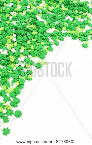 St Patricks Day candy border