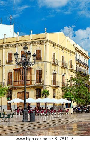 VALENCIA, SPAIN - SEPT 10: Cityscape of Valencia. September 10, 2014 in Valencia, Spain.