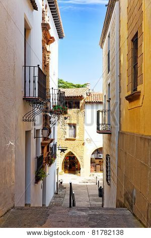 Typical landscapes  of Spain.Catalonia