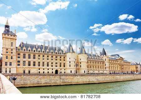 Castle Conciergerie And Bridge, Paris, France.