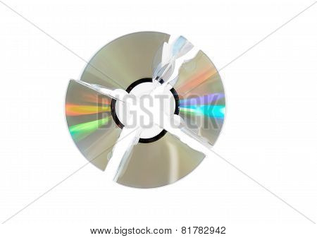 Broken Single Dvd(cd) Disc. Isolated.