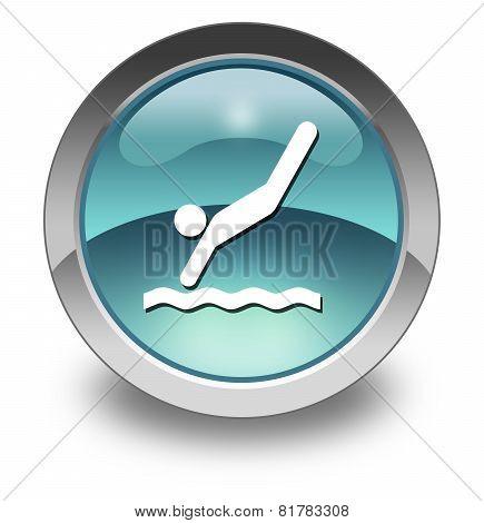 Icon, Button, Pictogram Diving