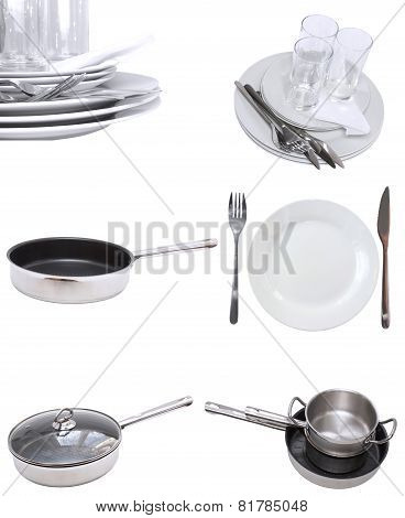 Collage of dishware.