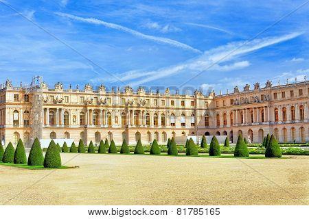 Versailles France - September 21 Back Side Of The Royal Versailles, France On September 21, 2013. Pa