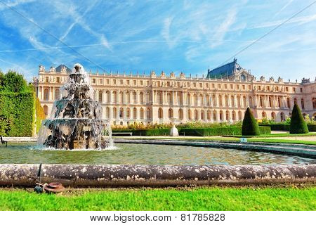 Beautiful Versailles Fontaine -pyramid , France