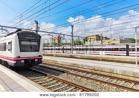 Suburban railway train.