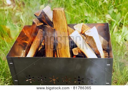 Firewoods In Barbecue (grill)