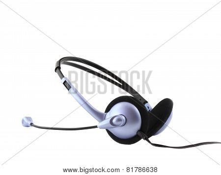 Headset With A Microphone.