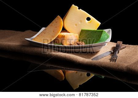 Various Cheese Sorts.