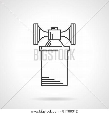 Contour vector icon for air horn