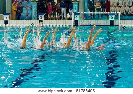 Milan - January 10: Syncro Team  Bpm Sport Management Performing Competes Free Combination During Th