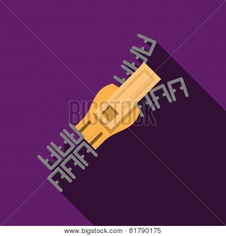 Flat color zipper vector icon