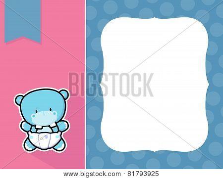 frame baby hippo